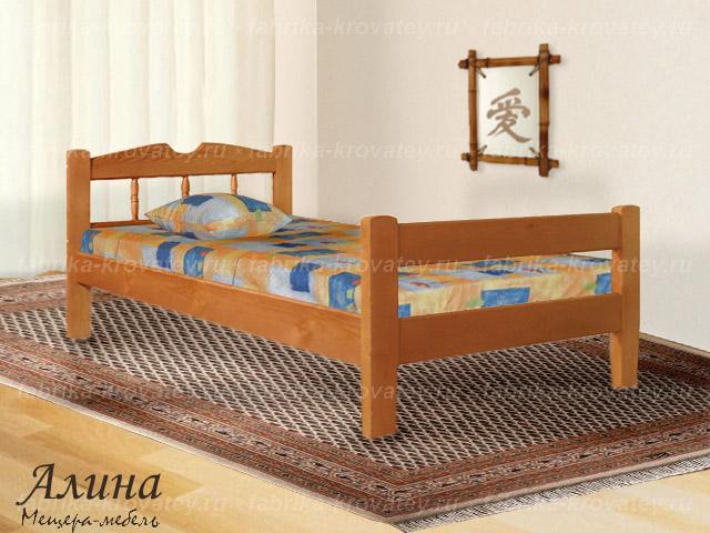Односпальную кровать с матрасом   магазине