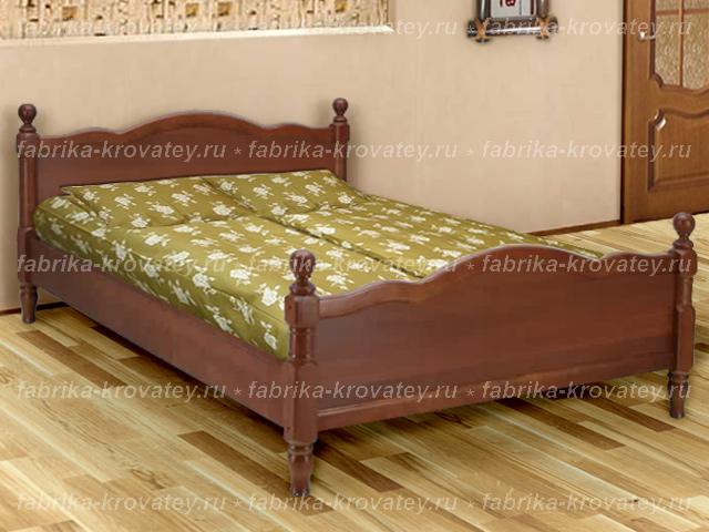 Двуспальная кровать из массива Славия